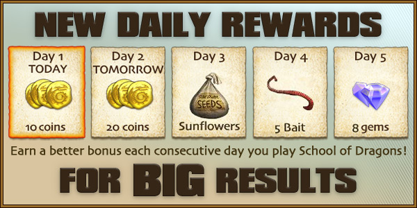 New Daily Rewards for BIG Results