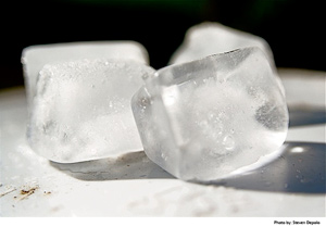 Salt Melts Ice Cubes