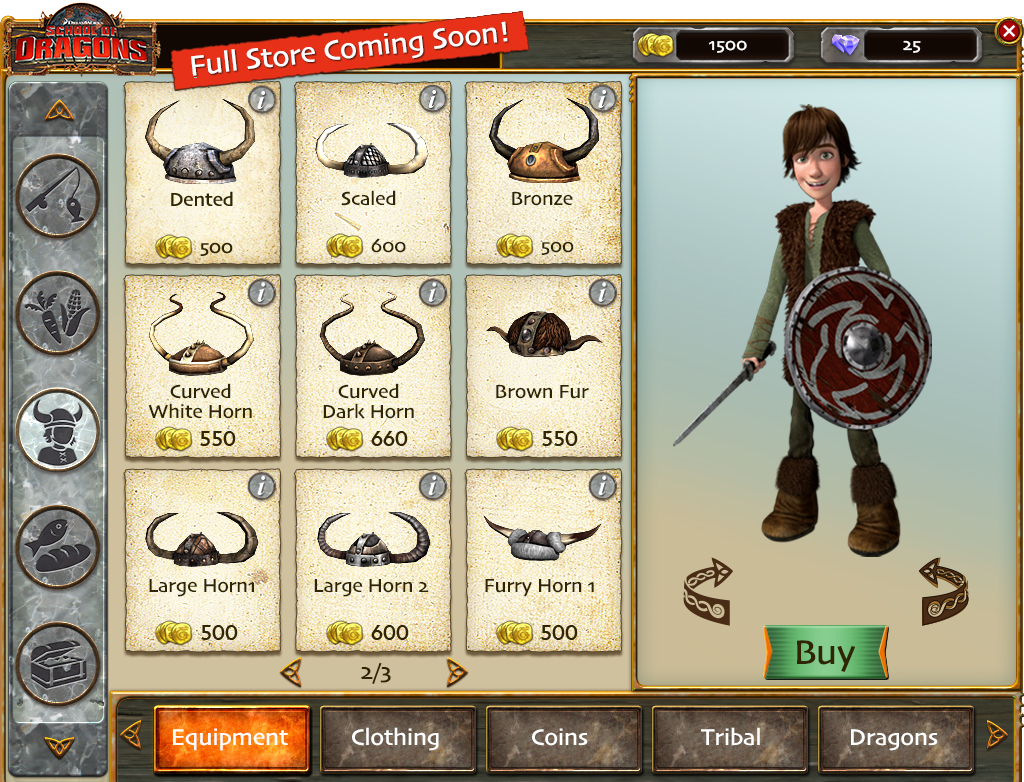 Shop - HTTYD Games