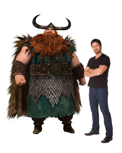 How to Train Your Dragon - Stoick and Gerard Butler
