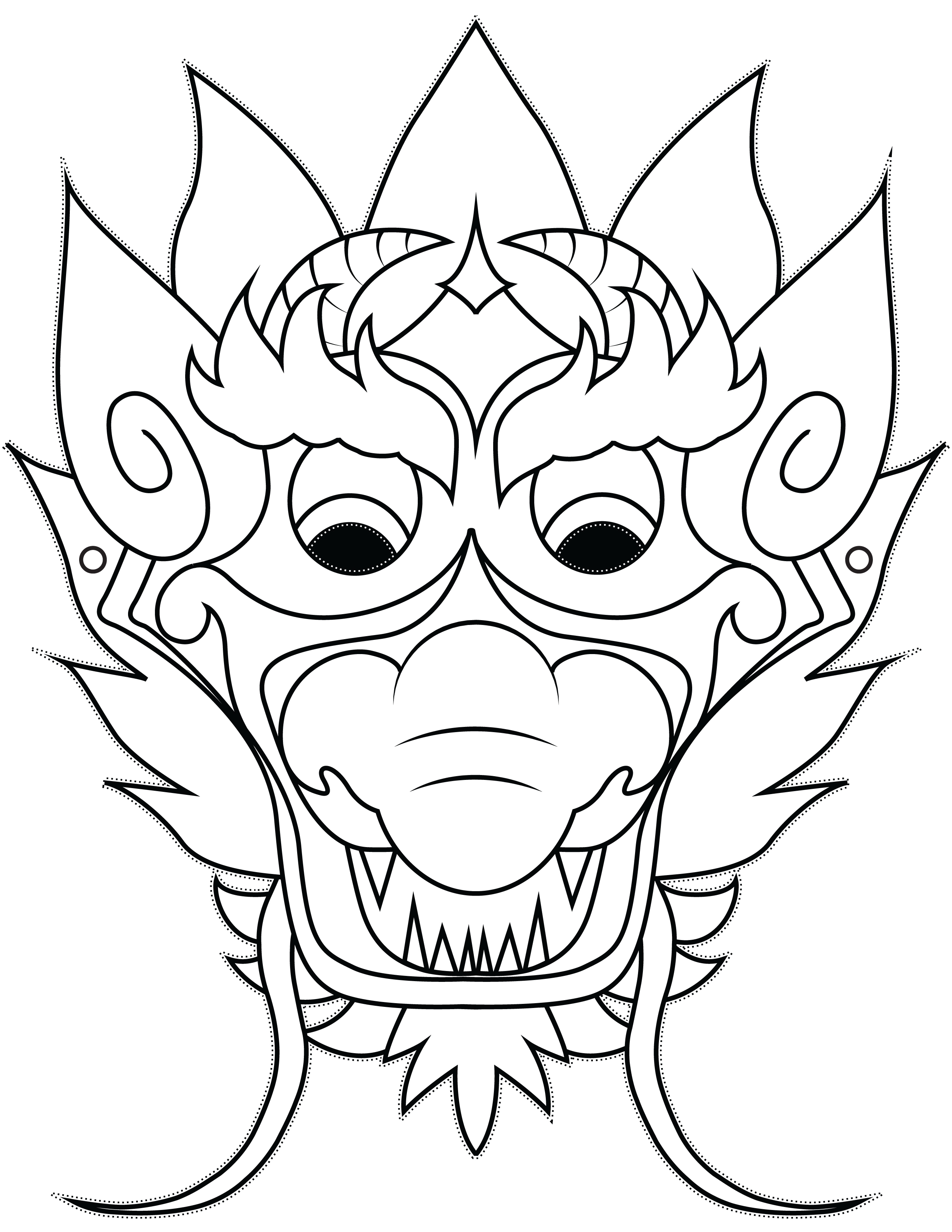 Pics Photos - Free Printable Chinese Dragon Mask Template