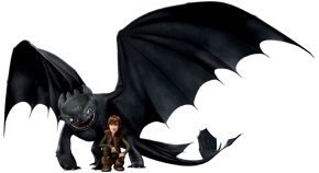 Hiccup and Toothless - How to Train Your Dragon