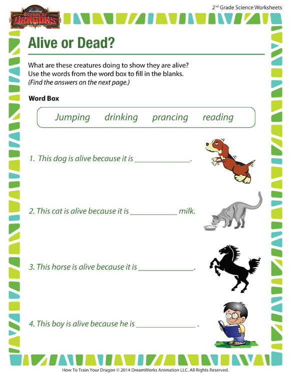 Alive or Dead? View – Science Worksheets for 2nd Graders – SoD