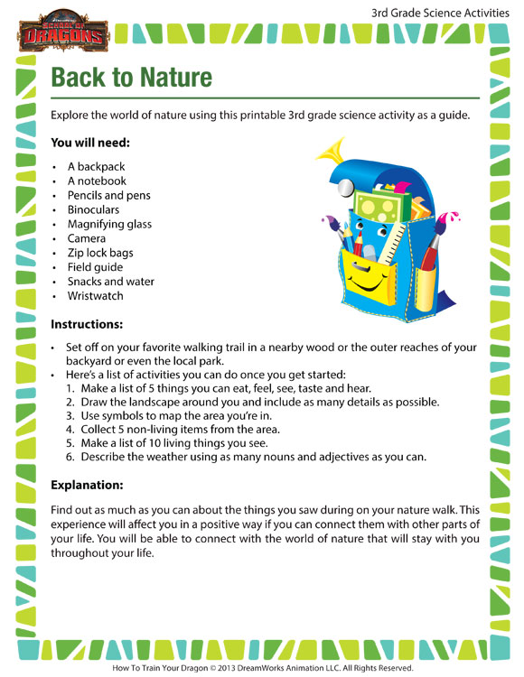 Download 'Back to Nature' - Fun Science Activity for 3rd Graders