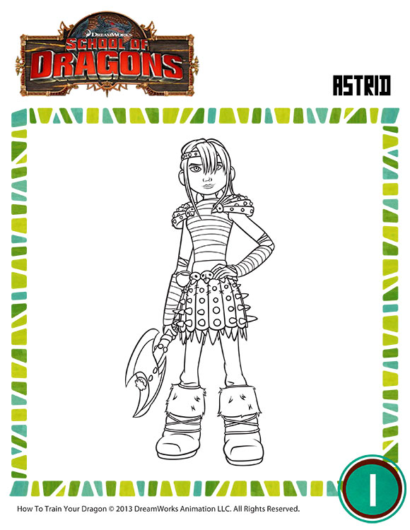 astrids dragon coloring pages - photo#7
