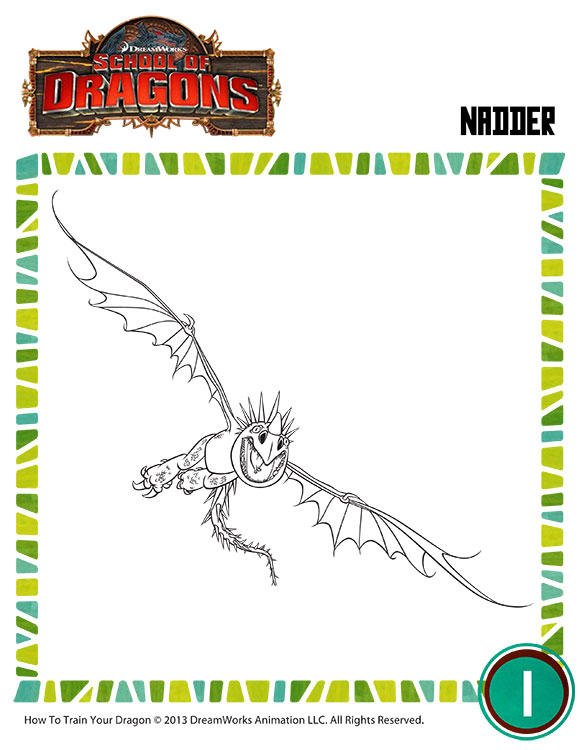 Color Deadly Nadder 3 Free Dragon