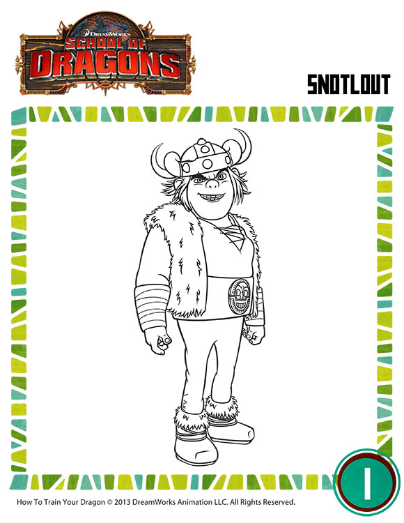 Color Snotlout 2 View Printable Vikings Coloring Page Sod