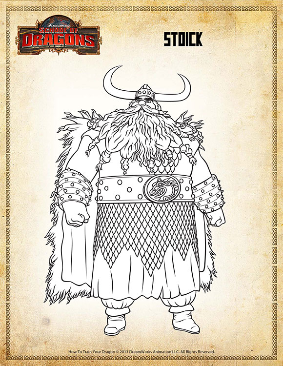 color stoick view  dragon coloring page resources  sod