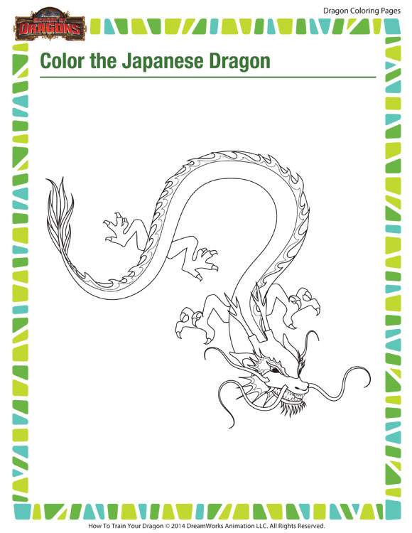 color the japanese dragon coloring page printable kids sod. Black Bedroom Furniture Sets. Home Design Ideas