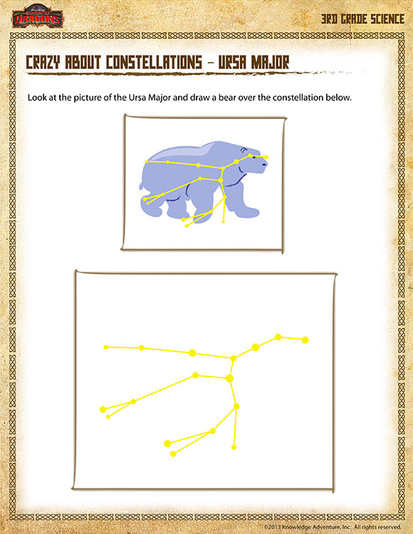{Crazy about Constellations Ursa Major Free 3rd Grade Science – Constellations Worksheets