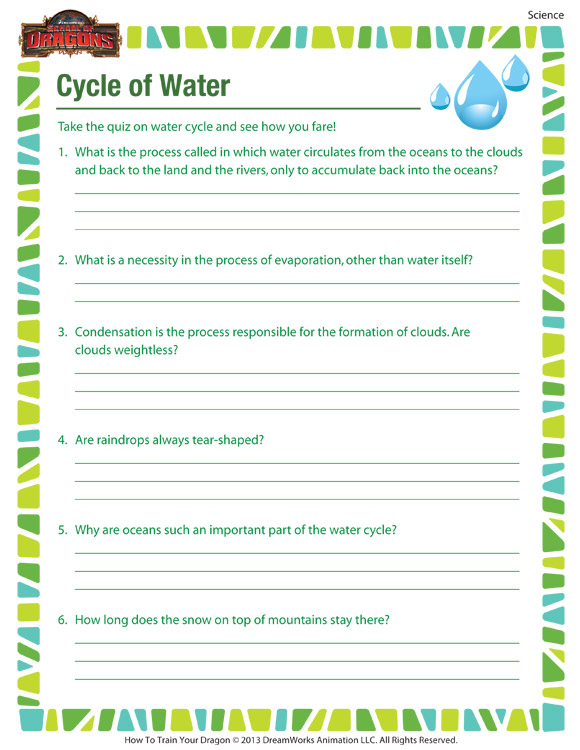 Check out cycle of water our free science worksheet for 4th grade