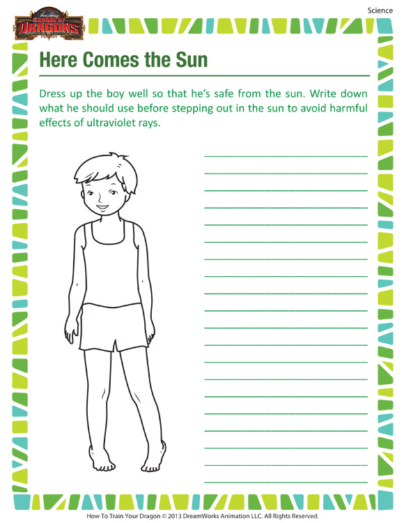 Here Come The Sun Science Worksheet For Grade 3