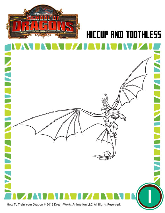 Hiccup & Toothless - How to Train Your Dragon Coloring Pages ...