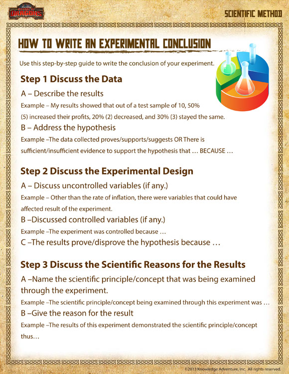 scientific essay conclusion My students always seen to struggle to write a good scientific conclusion so i collaborated with my colleagues in the english dept to come up with a way to help them.
