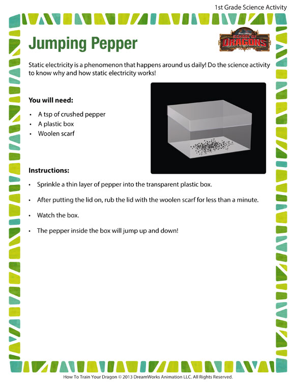 Jumping Pepper - Printable Science Activities