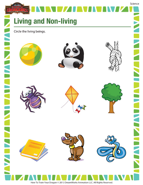 Living and Non-Living - Printable Science Worksheets