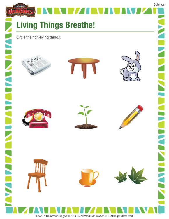 living things breathe science worksheet kindergarten sod. Black Bedroom Furniture Sets. Home Design Ideas