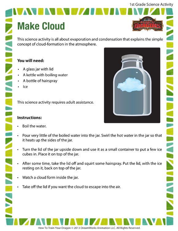 Make Cloud - Printable Science Activities