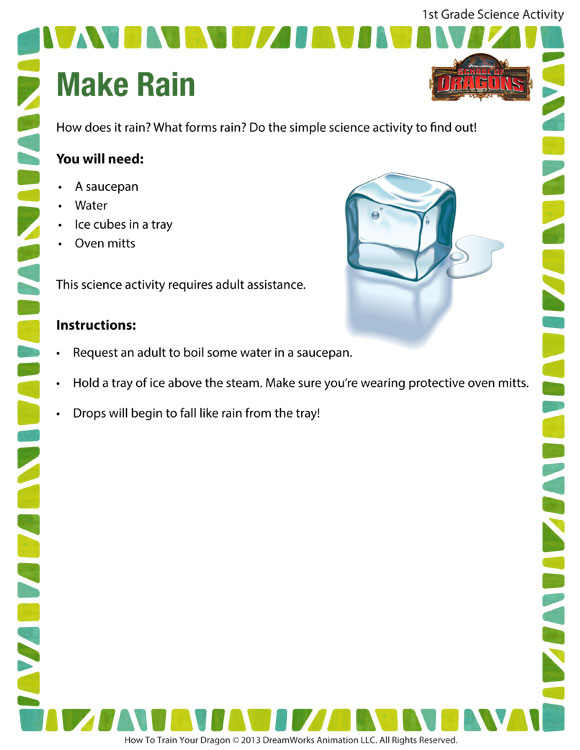 Make Rain Activity Cool Science Printable For 1st Grade. Make Rain Printable Science Activities. Worksheet. Worksheet For 1st Grade Science At Clickcart.co