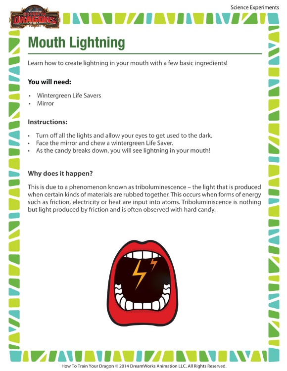 Mouth Lightning - Use Science to Make Lightning in your Mouth