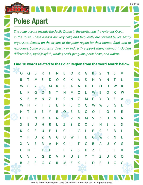 Poles Apart – Free Science Printable for 7th Grade