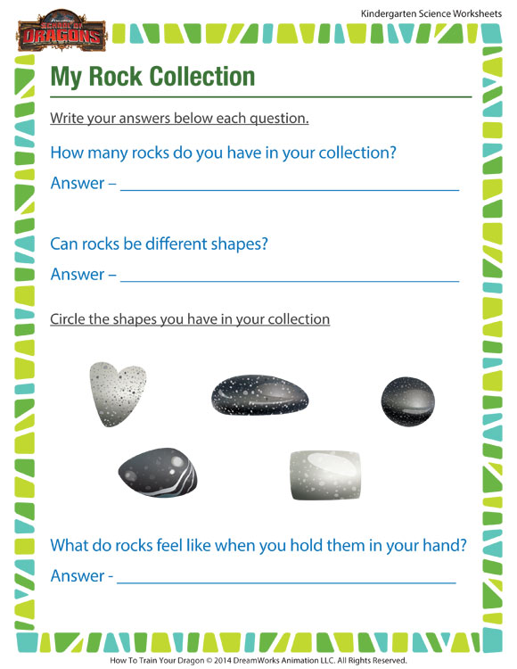 My Rock Collection Worksheet Kindergarten Science Printable – Kindergarten Science Worksheets Free