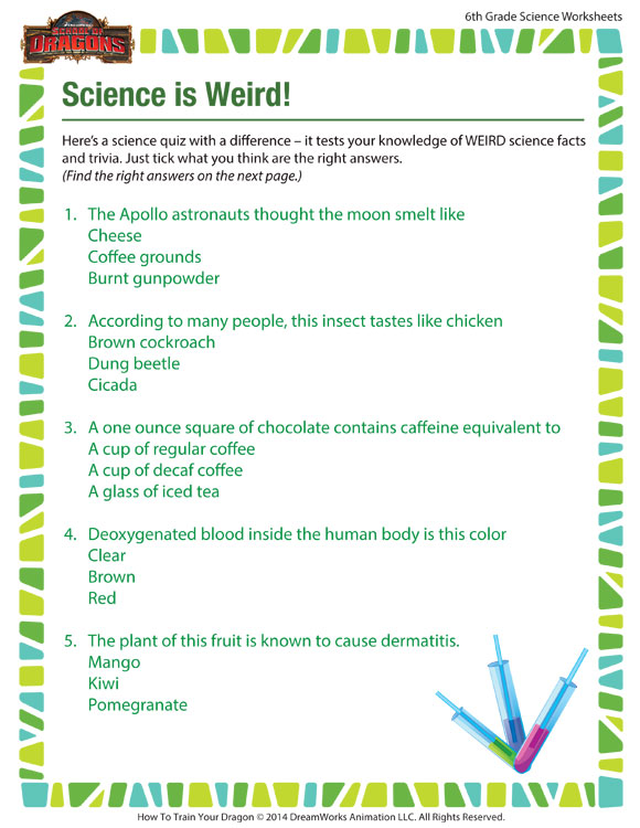 6th grade science worksheets science method news cars