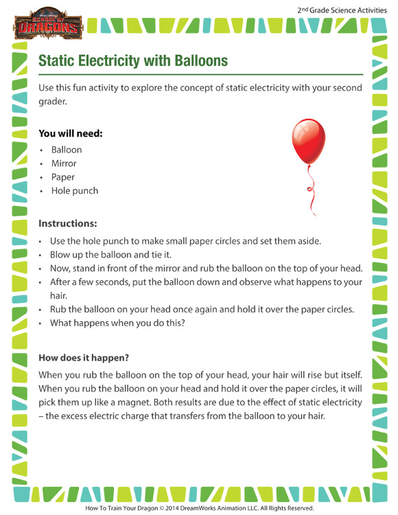static electricity balloons view 7th grade activities sod. Black Bedroom Furniture Sets. Home Design Ideas