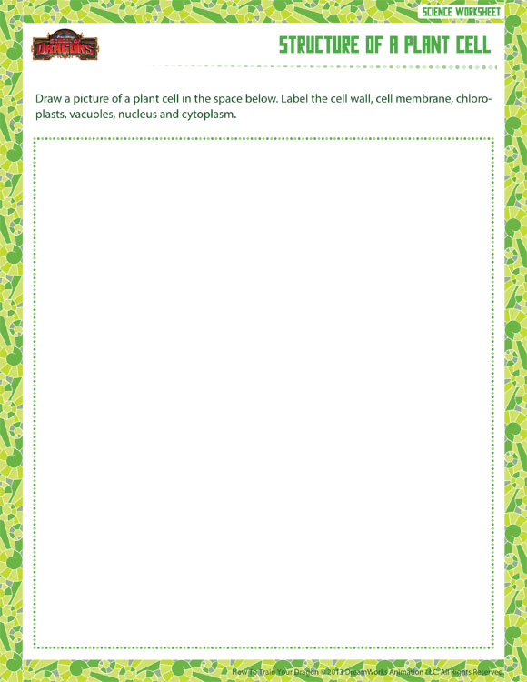 Structure of a Plant Cell View - 6th Grade Worksheet Kids ...
