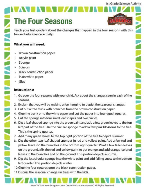 The Four Seasons - Fun Science Activity