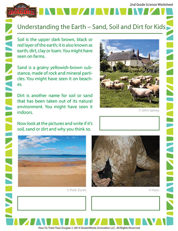 Understanding the earth sand soil and dirt worksheet for Soil information for kids