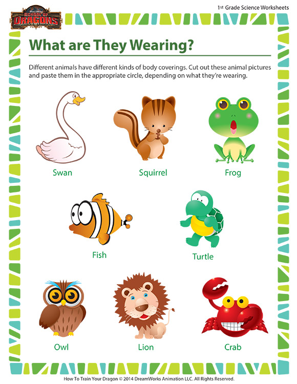 what are they wearing worksheet 1st grade life science sod. Black Bedroom Furniture Sets. Home Design Ideas