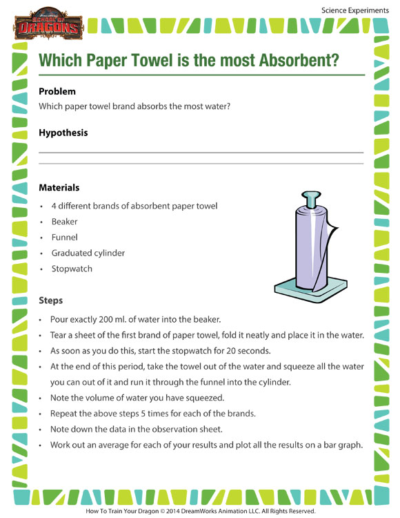 research paper absorbency The great paper towel test: what brand is your best value to measure absorbency, i dipped a paper towel into a large glass full of water in your research.