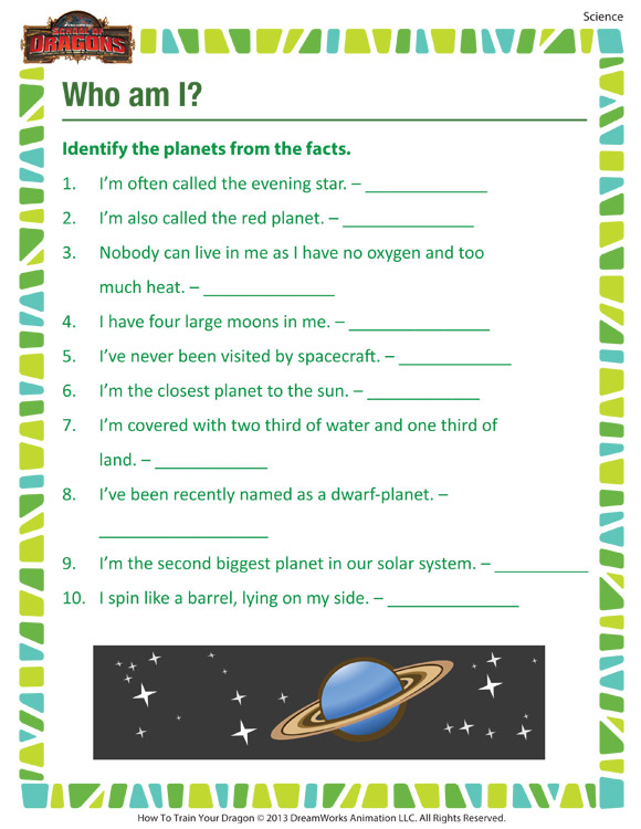 Who Am I 3rd Grade Printable Science Worksheet