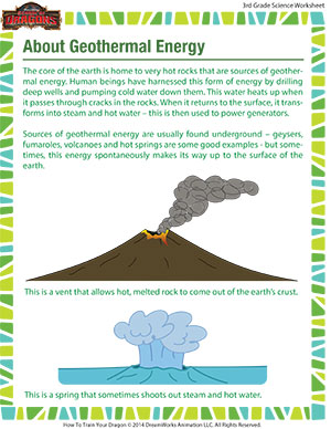 About Geothermal Energy – 3rd Grade Science Printables Online ...