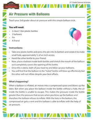 Download 'Air Pressure with Balloons' - 3rd grade science activity