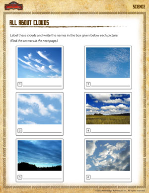 All About Clouds - 2nd Grade Kids Science Worksheets - SoD