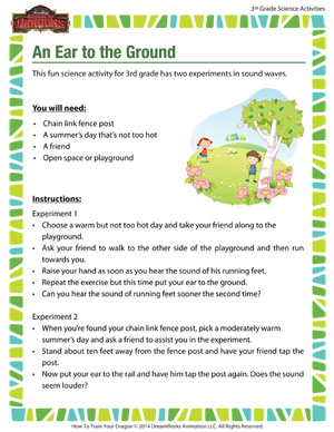 Download 'An Ear to the Ground' - Science activity about sound waves