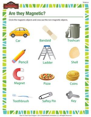 Are They Magnetic? – Science Worksheet for 2nd Grade