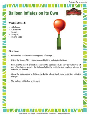 Balloon Inflates on Its Own - Fun Science Experiment for Kids