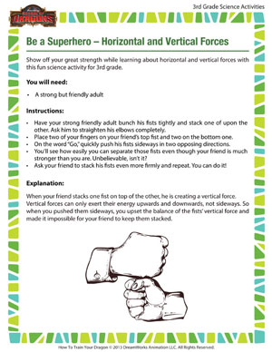 Download 'Be a Superhero – Horizontal and Vertical Forces' - Cool 3rd Grade Science Activity