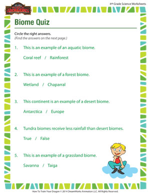 Biome quiz science worksheets printables for grade 4 school of biome quiz life science quiz for 4th grade ibookread