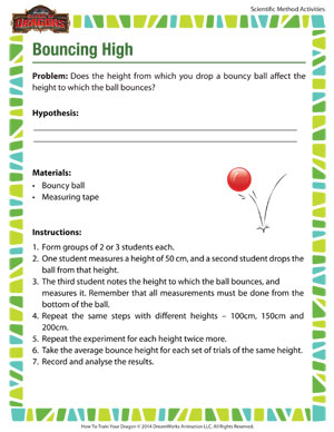 Bouncing High - Printable Scientific Method Activity