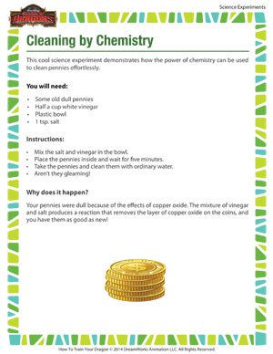 Cleaning by Chemistry - Science Experiment for Kids