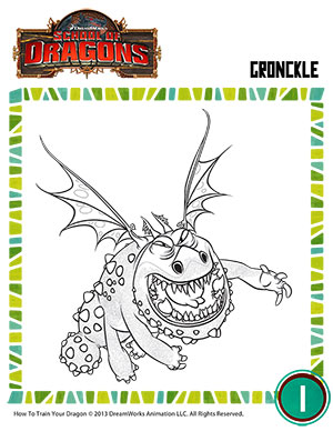 color gronckle dragons coloring page for kids school of dragons