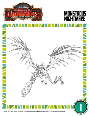 Color monstrous nightmare 2 printable coloring page