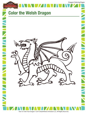 Check Out This Cool Wlesh Dragon And Color It In