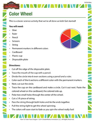 Color Wheel - 2nd grade science activity