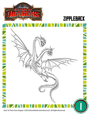 Color Hideous Zippleback Httyd Dragon Resources Sod