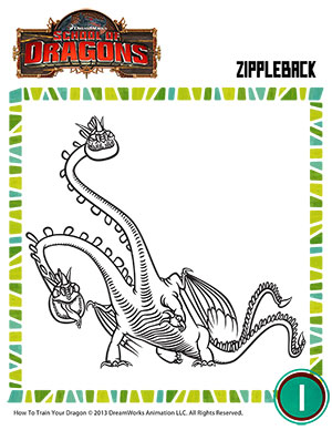 color zippleback 2 - Dragon Coloring Pictures 2